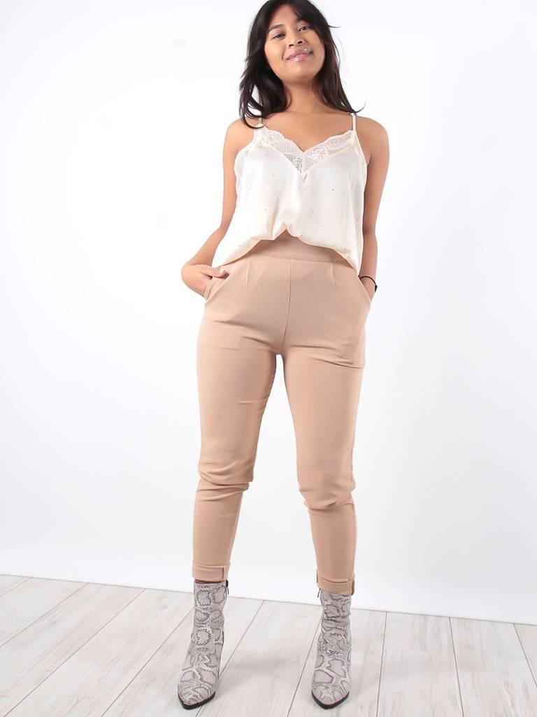 VERA & LUCY Beige high waisted trousers