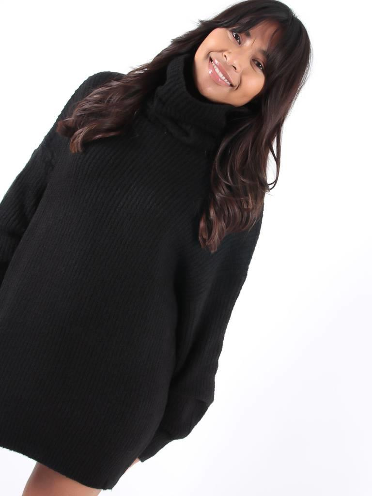 Copperose Black oversized jumper dress