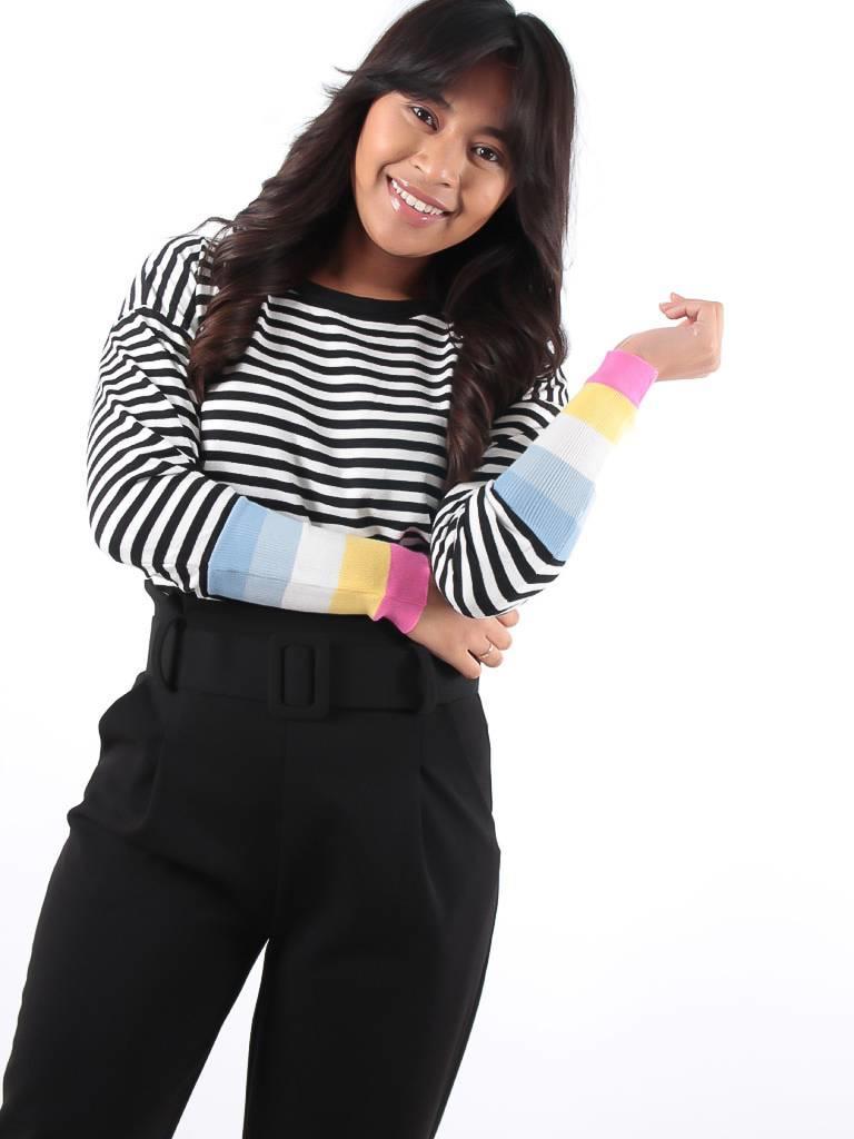 Ladylike Stripe jumper color sleeve