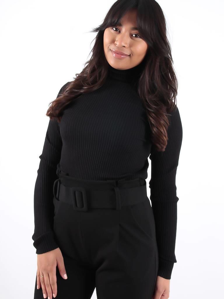 Vintage Dressing Black roll neck jumper