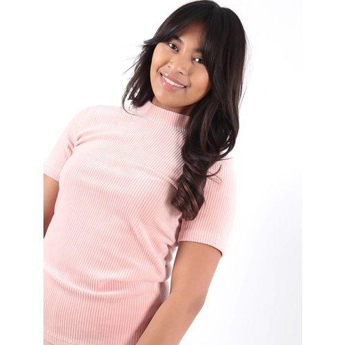 Ambika Cataleya rib t-shirt pink