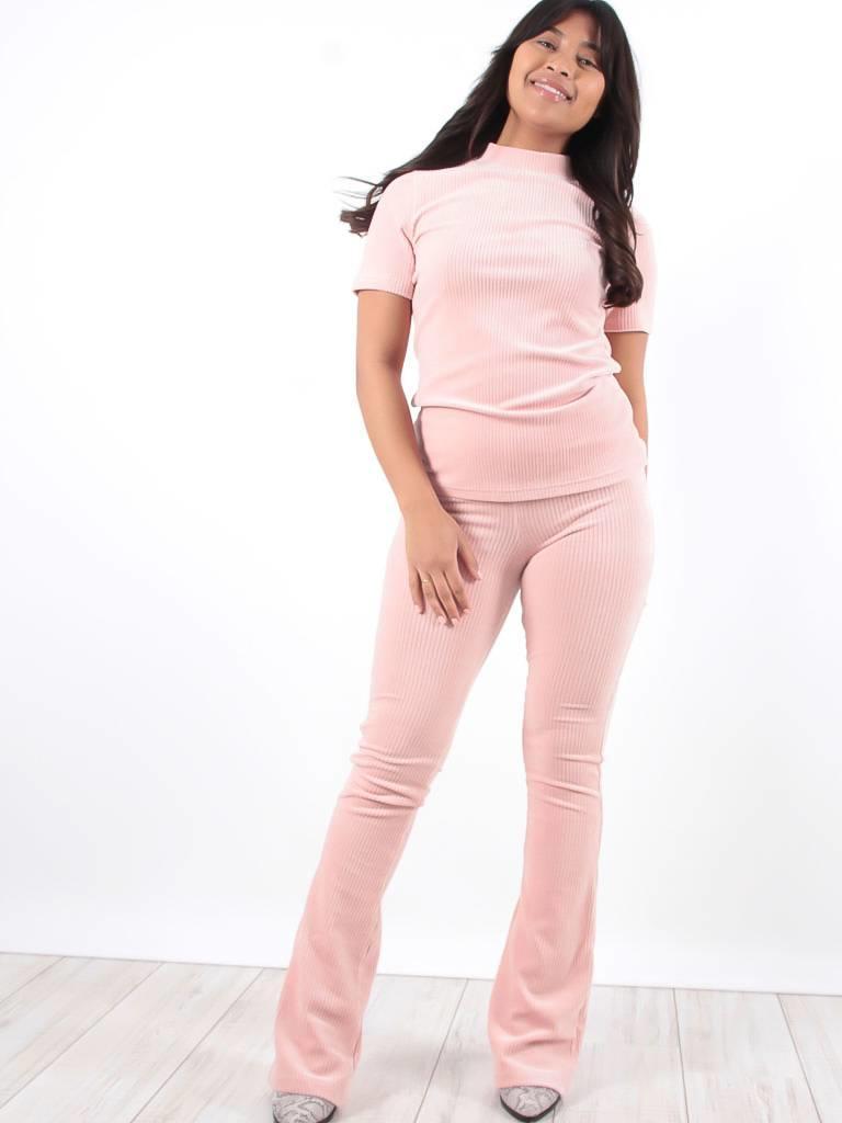 Ambika Cataleya rib pants pink