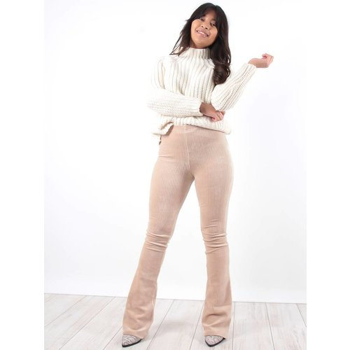 Ambika Cataleya rib pants beige