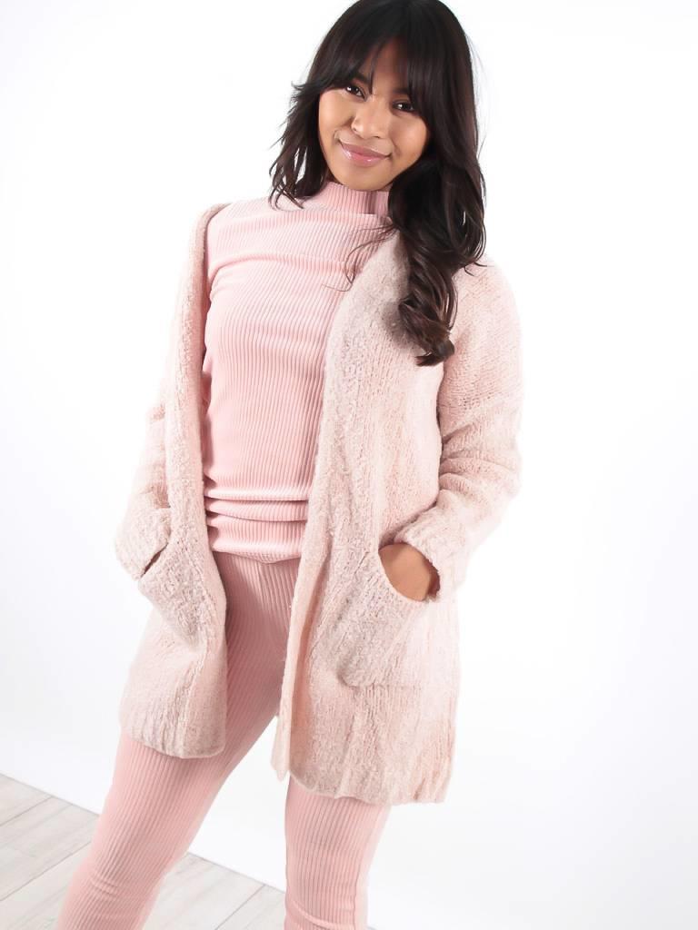 Ladylike Star cardigan pink