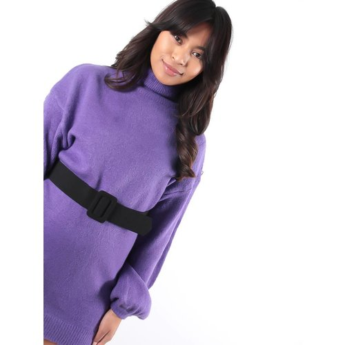 Ladylike Purple roll neck jumper dress