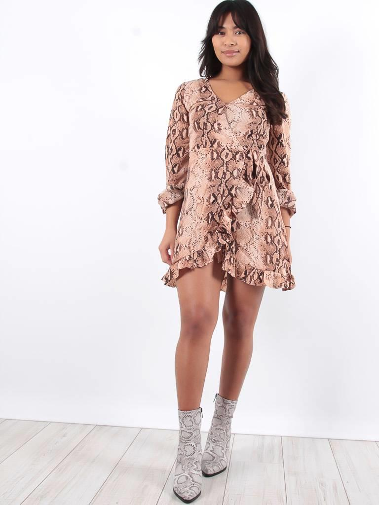 Ivivi Snake print dress marron