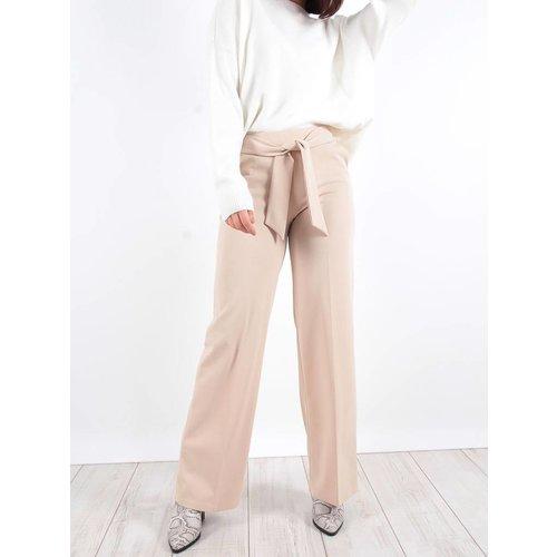 Lady lol Beige wide leg trousers