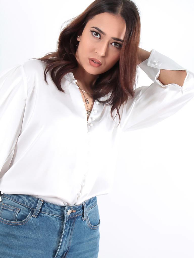 Turqouise by Daan Satin blouse