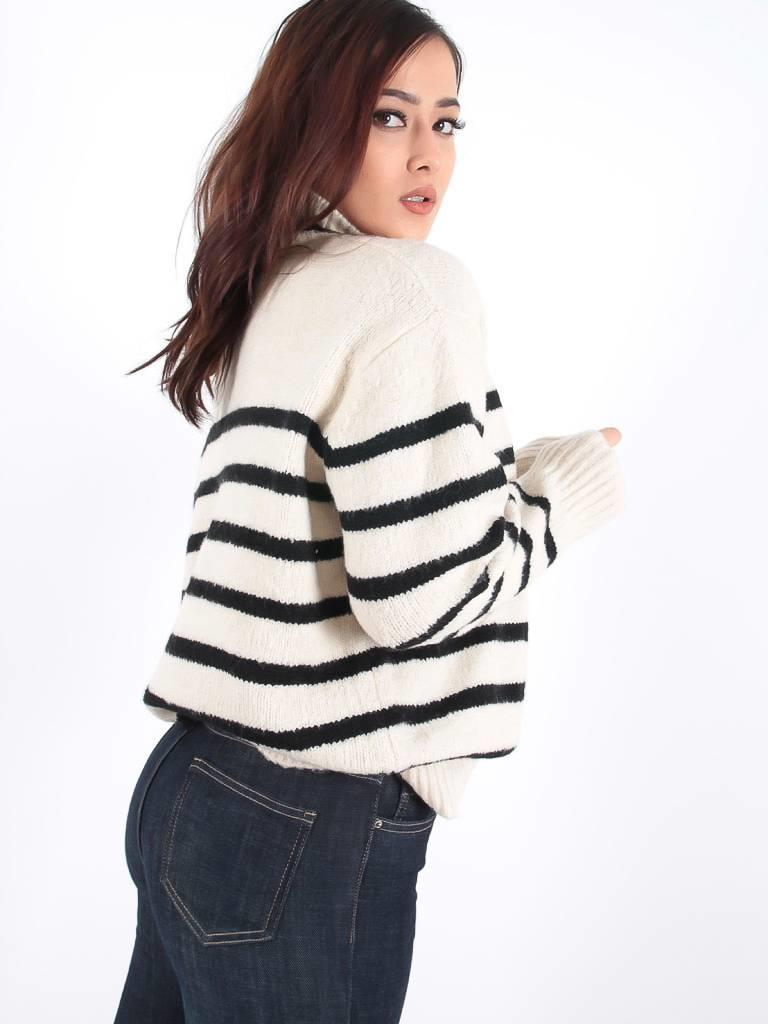 Bisou's project Striped knitted jumper