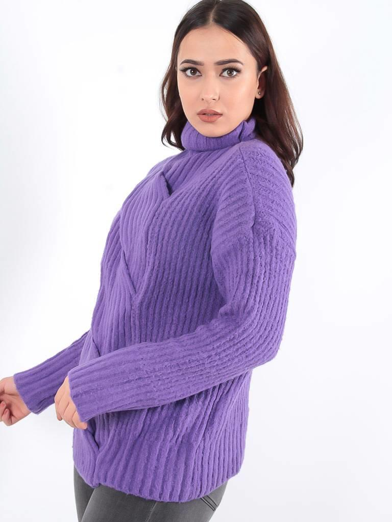 May Cable jumper purple