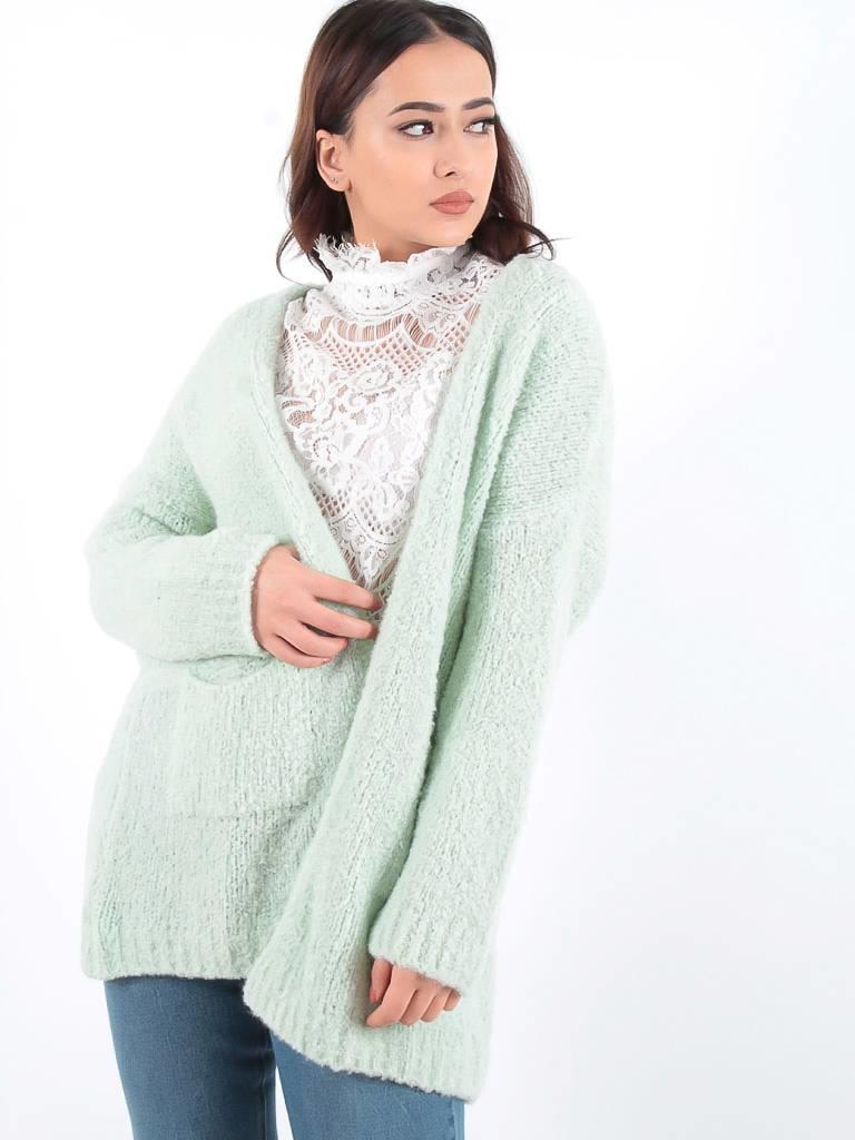 Ladylike Star cardigan mint