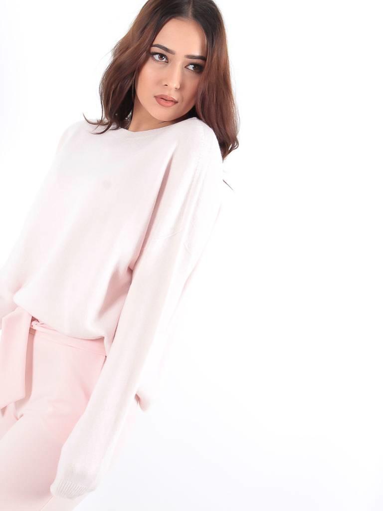 Alexander Laurent Pink soft knit oversized jumper