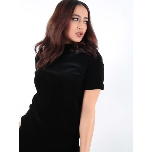 Ambika Cataleya rib t-shirt black