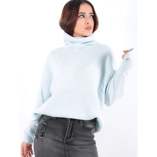 Vintage Dressing Col rib jumper blue