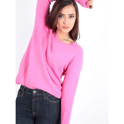 Ladylike Basic fuchsia knit jumper