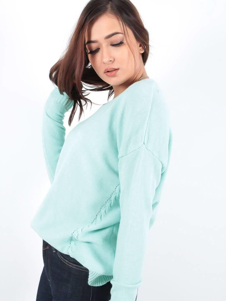 Ladylike Basic mint knit jumper