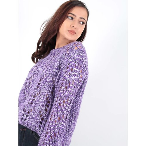 Ambika Cable Lea knit jumper purple