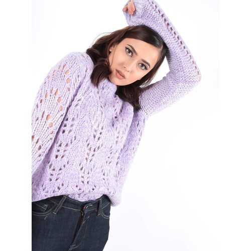 Ambika Cable Lea knit jumper light purple
