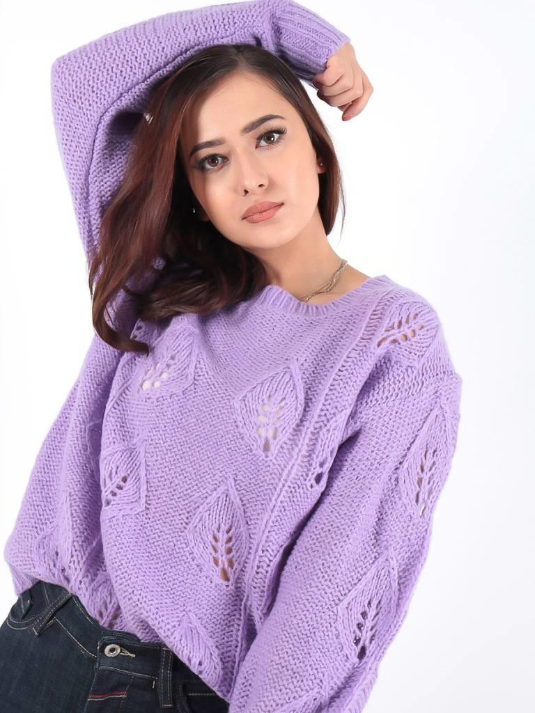 Ambika Cable Ann knit jumper light purple