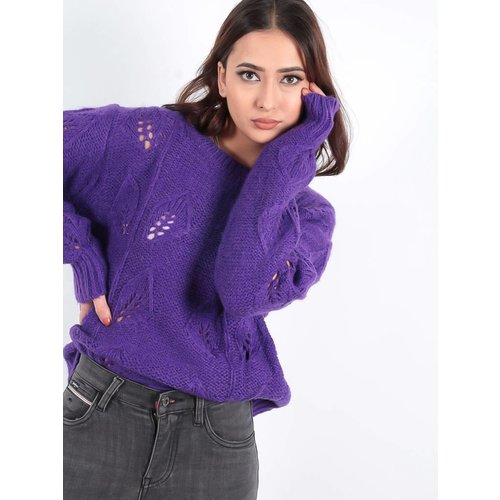 Ambika Cable Ann knit jumper purple