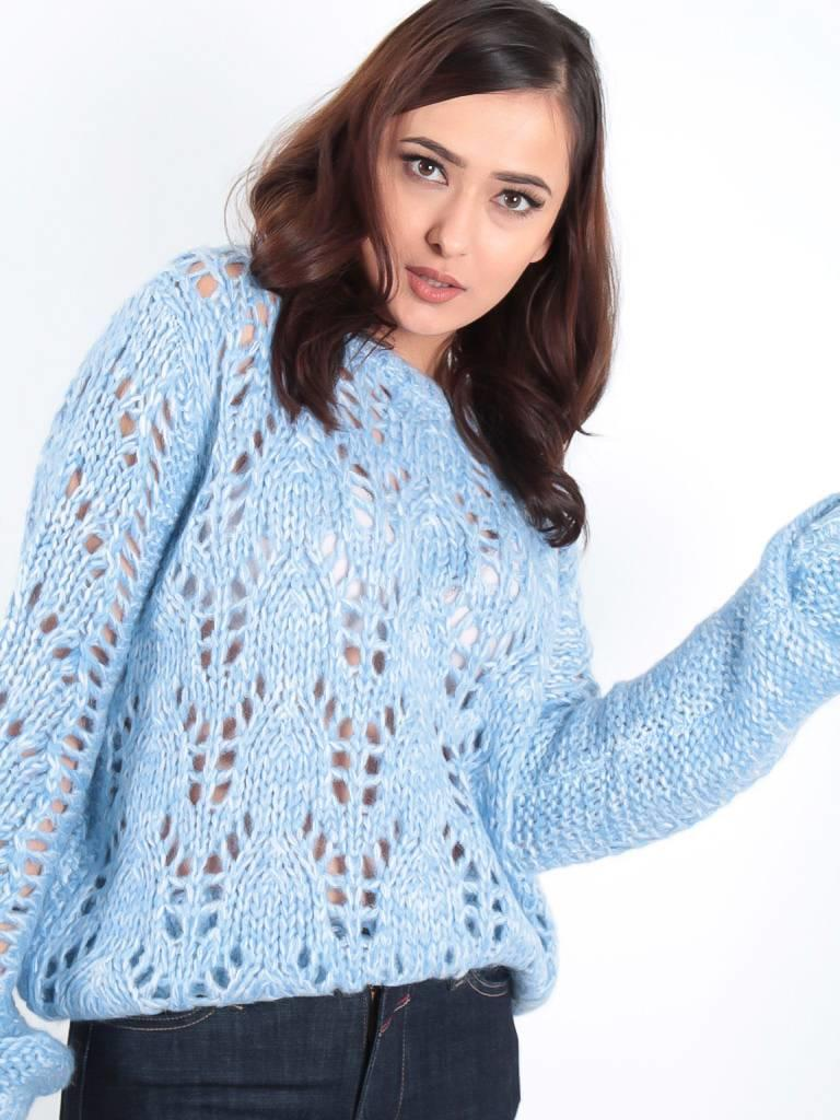 Ambika Cable Lea knit jumper blue
