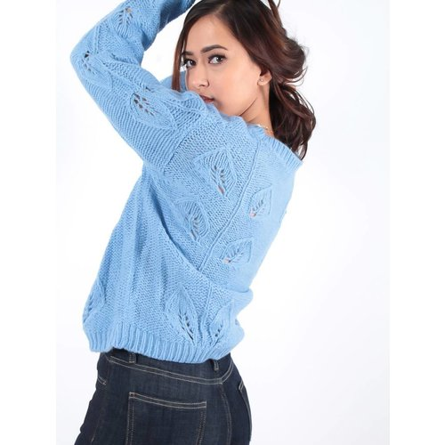 Ambika Cable Ann knit jumper blue