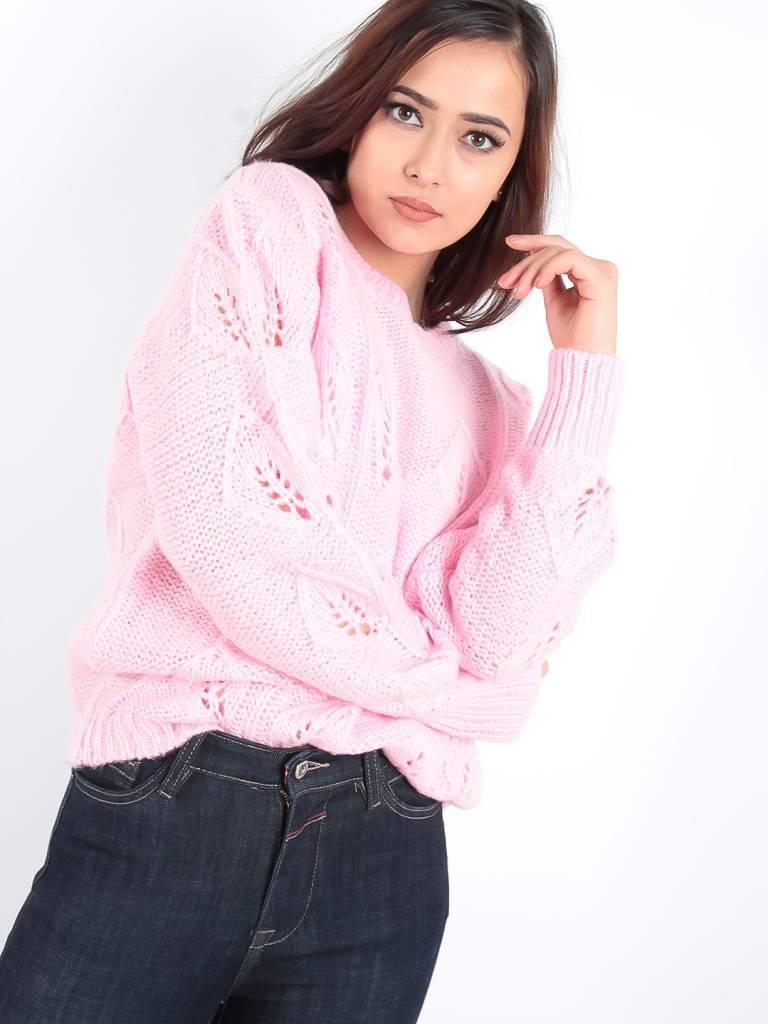 Ambika Cable Ann knit jumper pink