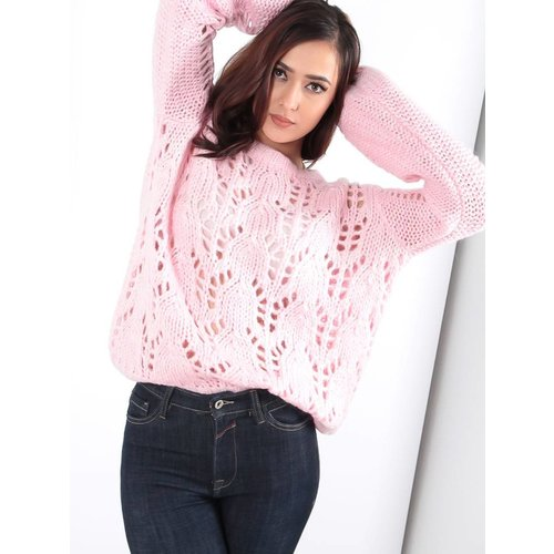 Ambika Cable Lea knit jumper pink