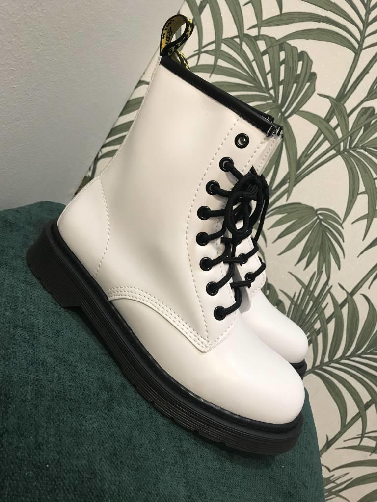 Day-Vine Stoere boots wit