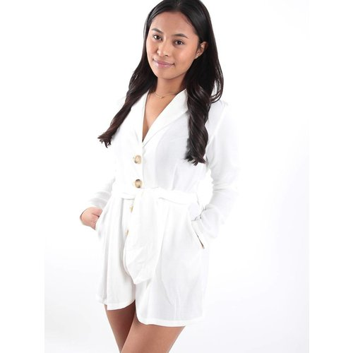 Eight White shorts cotton playsuit