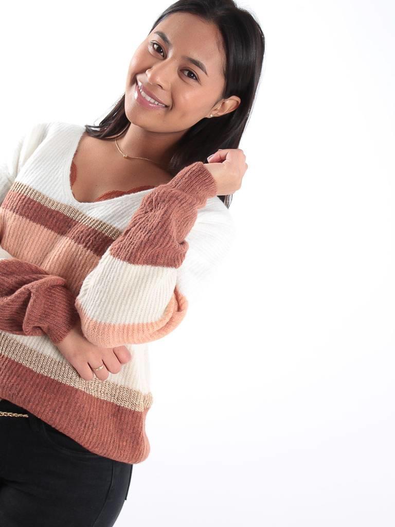 Kilky Gold stripe knit jumper