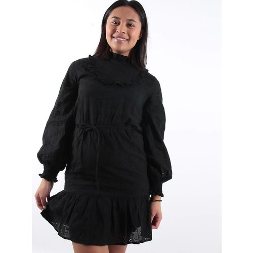 Eight Black broderie smock dress