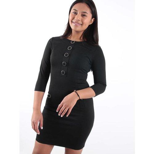 Drôle de Copine Black button detail dress
