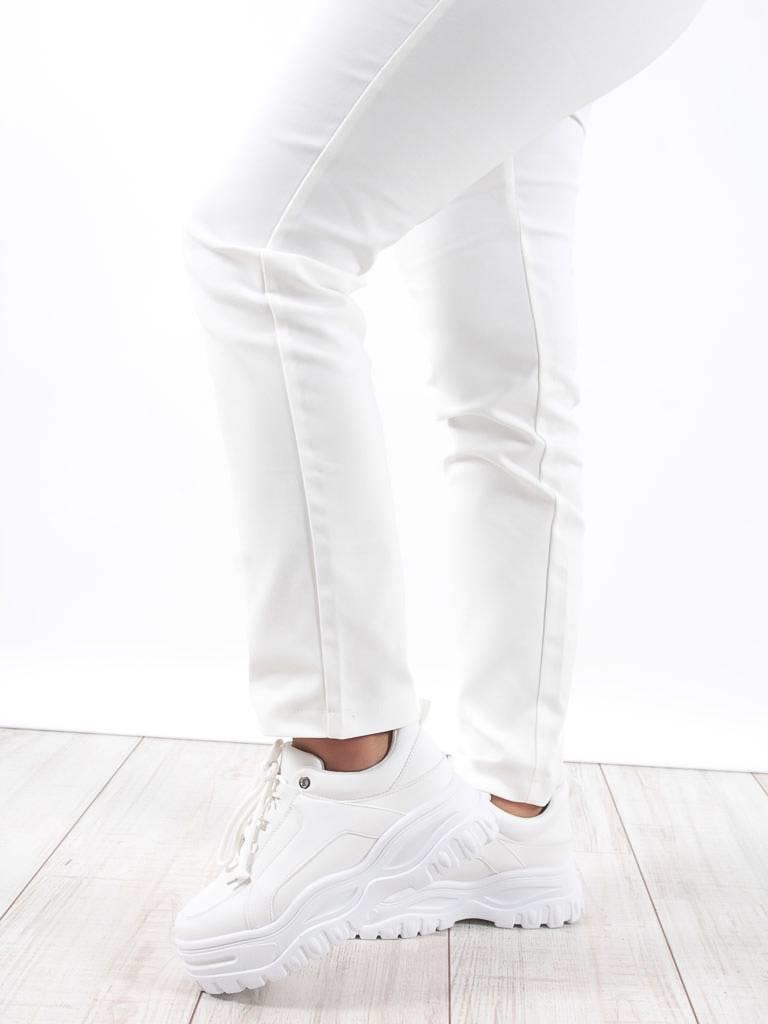 Turqouise by Daan White platform sneakers