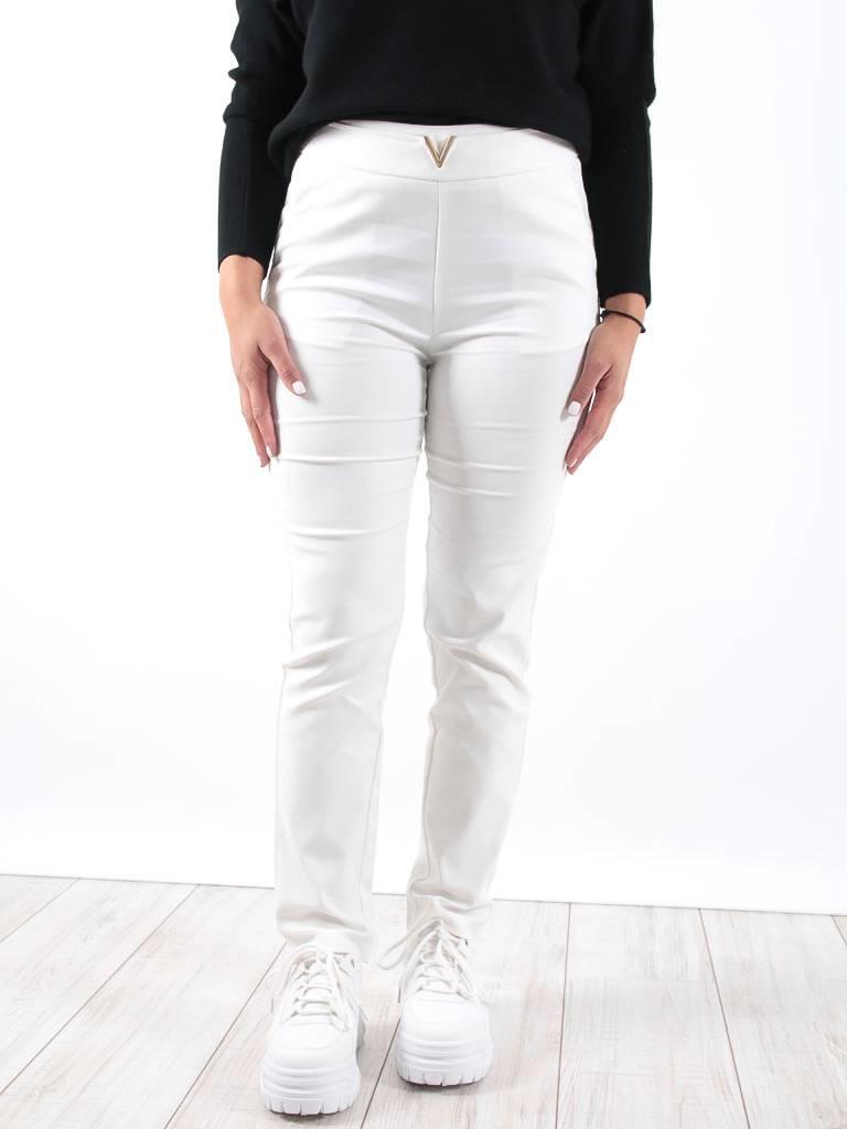 Drôle de Copine White high waisted straight leg trousers