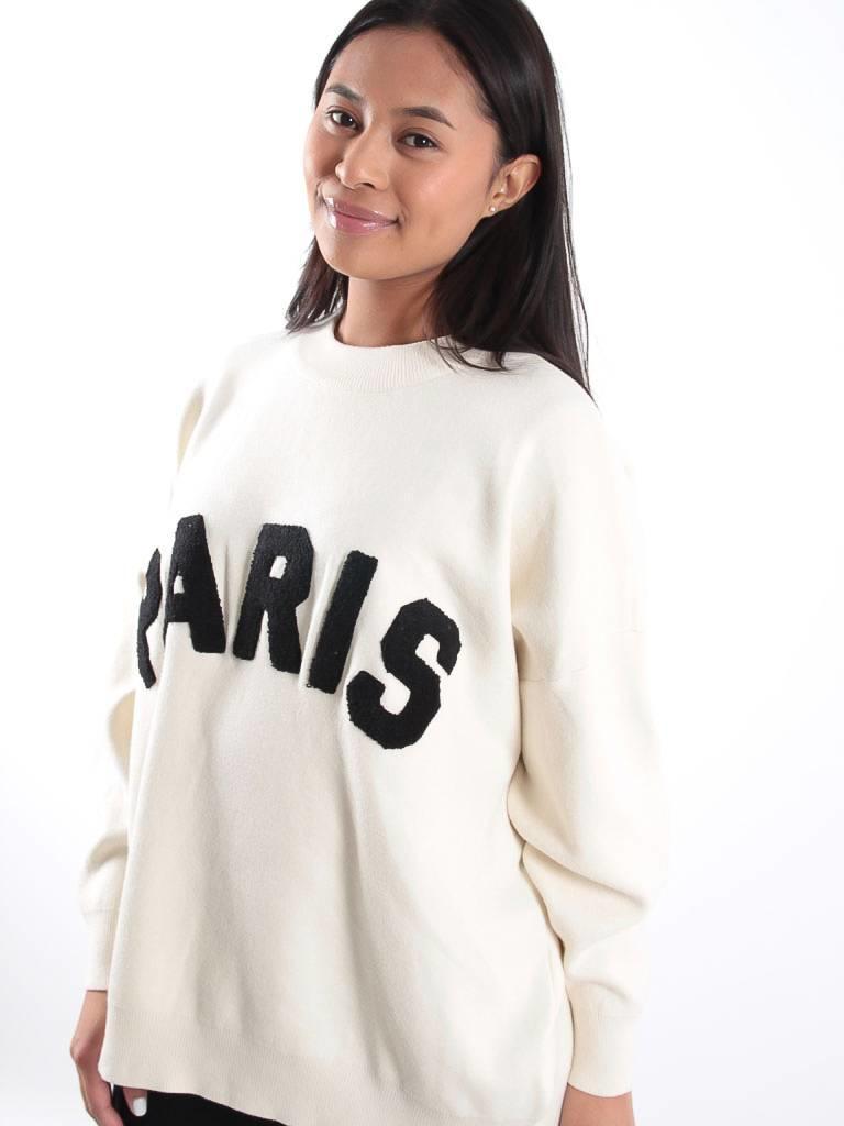Oversized Paris sweater creme