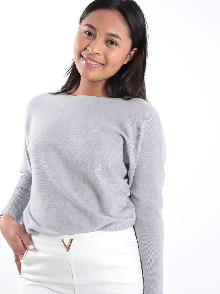 Cherry Koko Grey rib knit jumper
