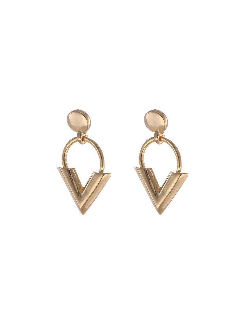Yehwang Earrings sweet V gold