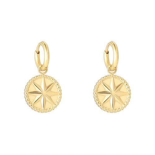 Yehwang Earrings mystic star gold