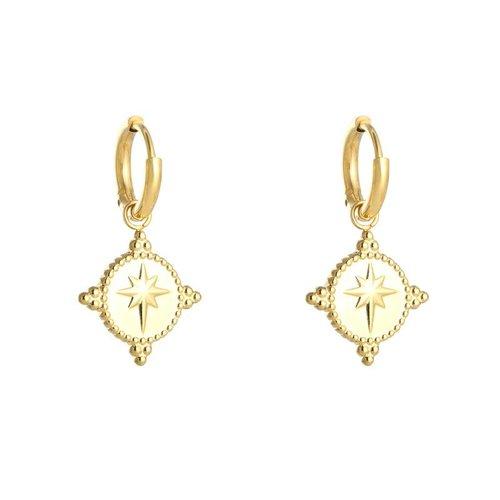 Yehwang Earrings guiding star gold