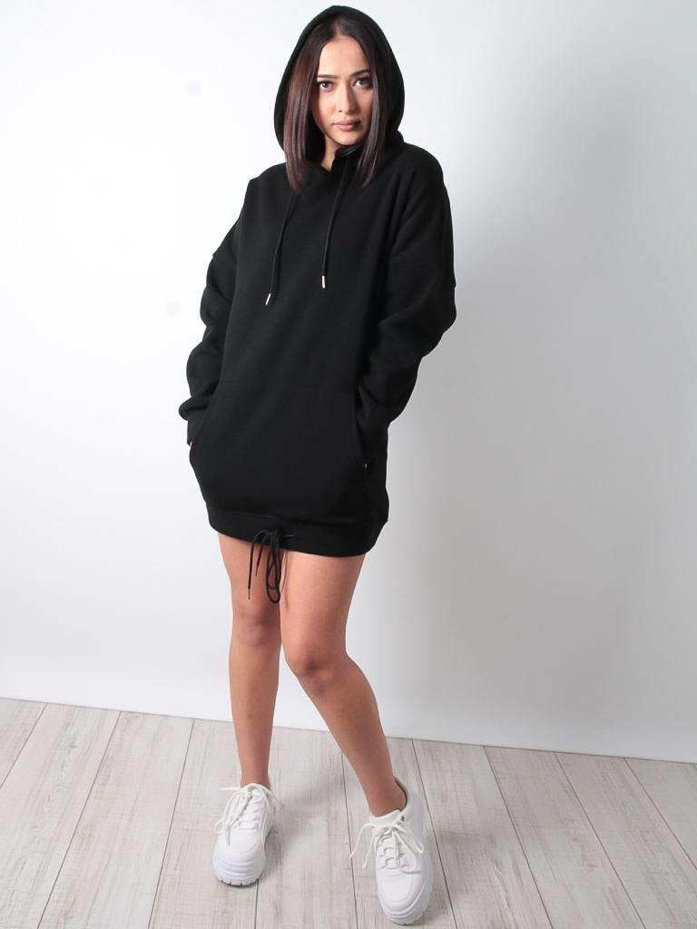 Cherry Koko Sweater dress black