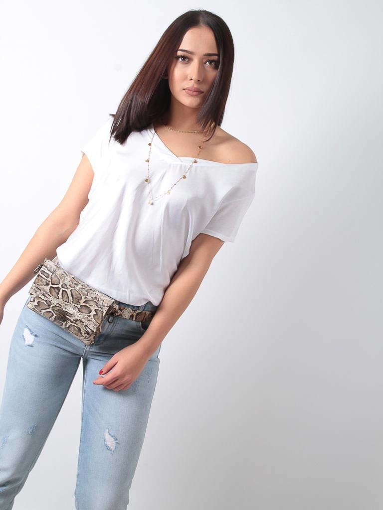 Ladylike T-Shirt white v-neck