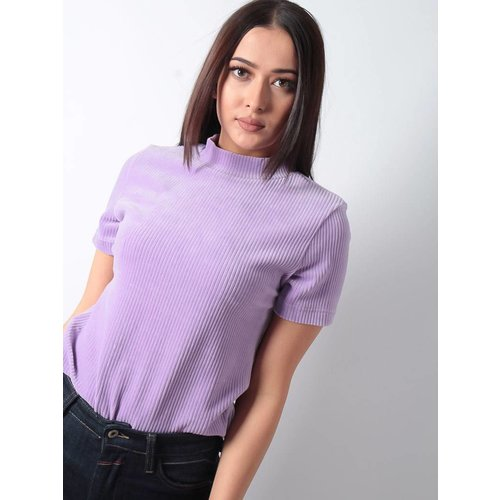 Ladylike Cataleya lilac rib top