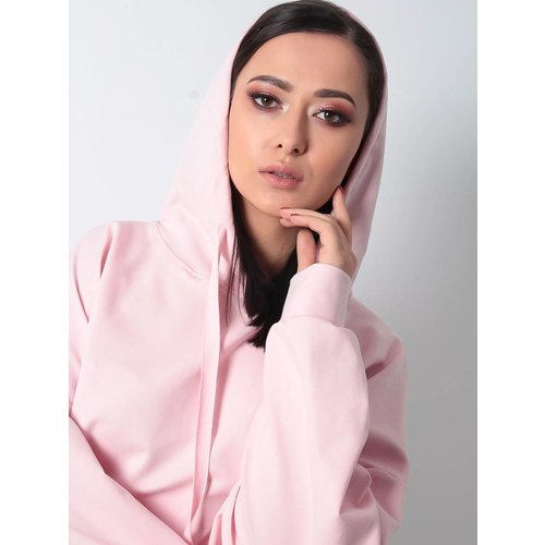 Ladylike Hoodie sweater dress pink