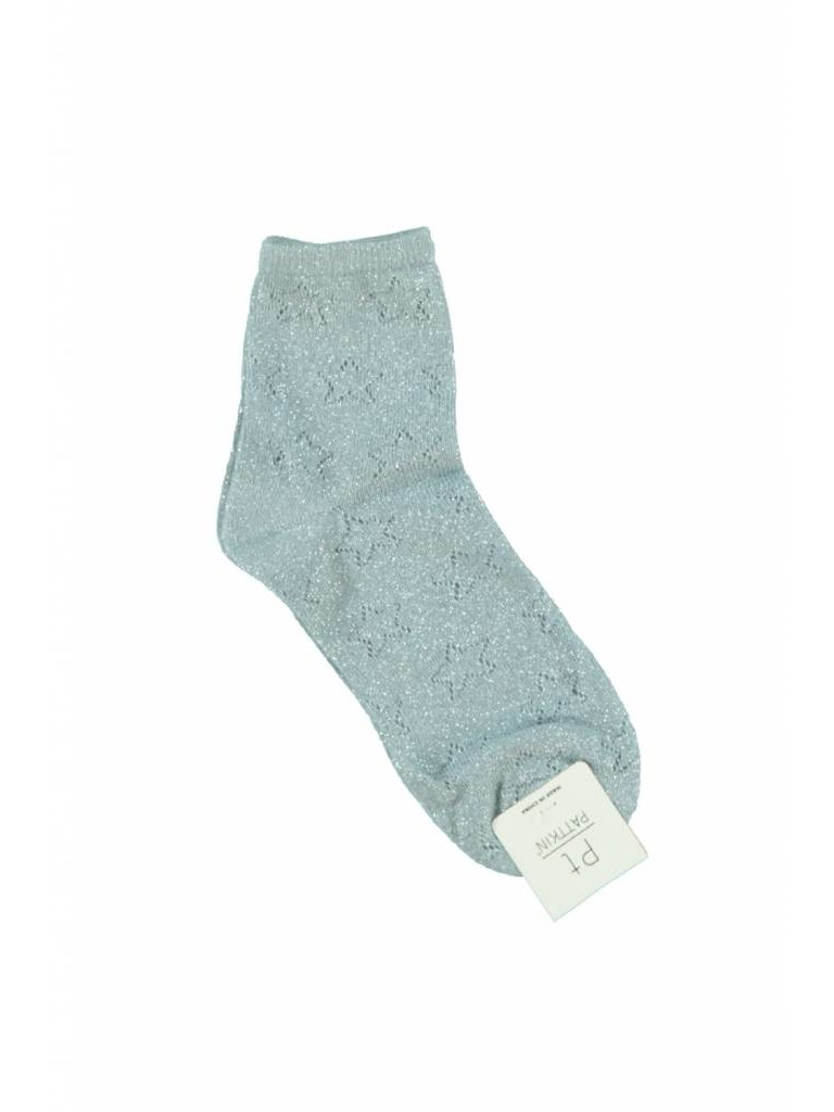 Ladylike Lurex sock light blue