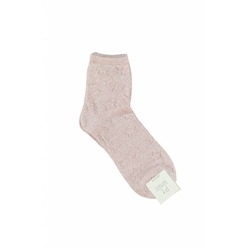Ladylike Lurex sock light rose