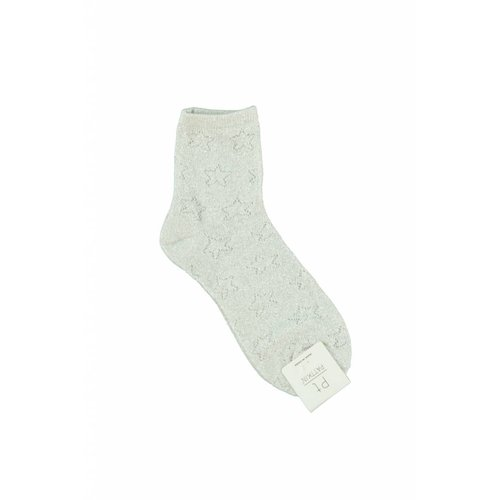 Ladylike Lurex socks white