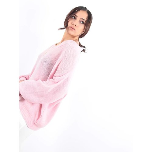 LADYLIKE FASHION V-jumper pink