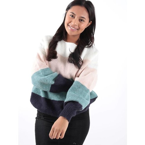 LADYLIKE FASHION Rainbow jumper blue