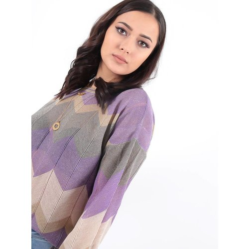 LADYLIKE FASHION Jumper lurex purple